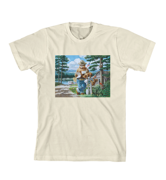 SMOKEY'S HEADQUARTERS TEE - Natural