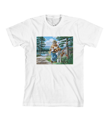 SMOKEY'S HEADQUARTERS TEE - White