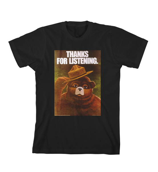 THANKS FOR LISTENING TEE - Black