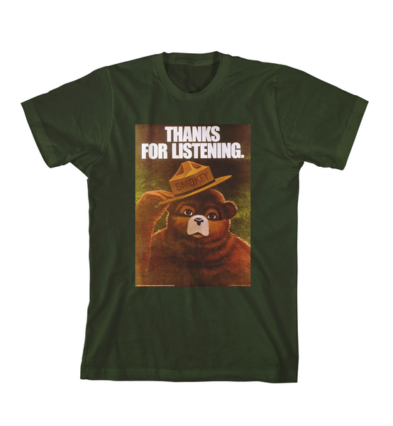 THANKS FOR LISTENING TEE - Forest Green