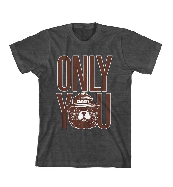 ONLY YOU #1 TEE - Charcoal