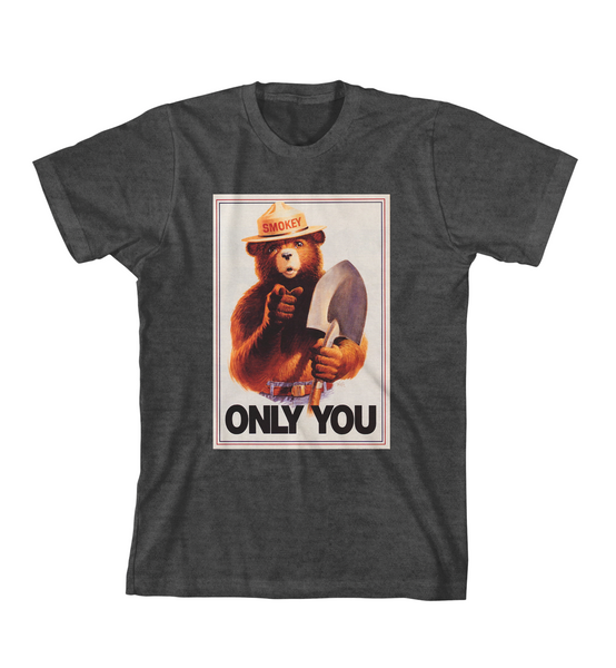 ONLY YOU #3 TEE - Charcoal