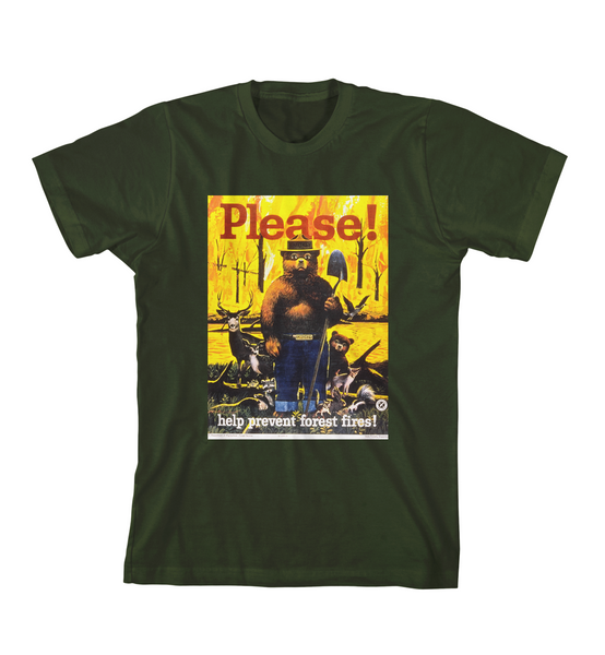PREVENT FOREST FIRES TEE - Forest Green