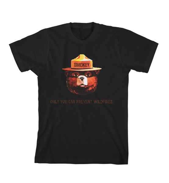 PREVENT WILDFIRES TEE - BLack