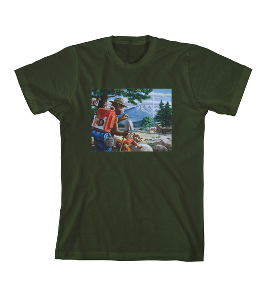 SMOKEY AND THE CUB TEE - Forest Green