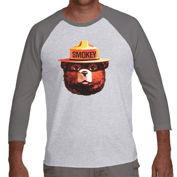 Smokey Bear Baseball Tee (unisex)