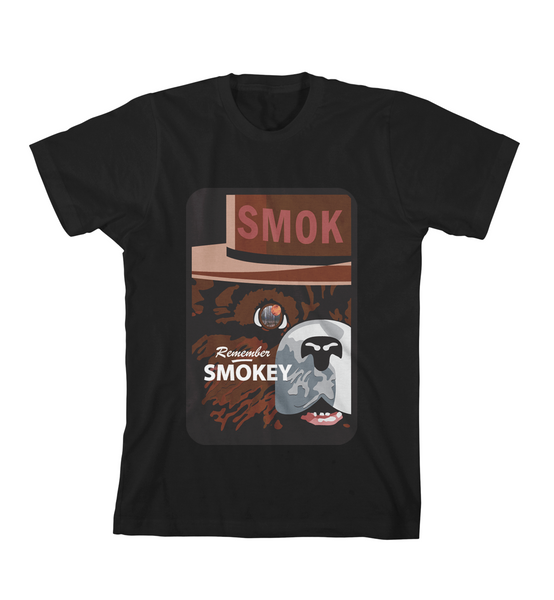 REMEMBER SMOKEY TEE - Black