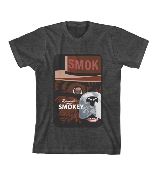 REMEMBER SMOKEY TEE - Charcoal