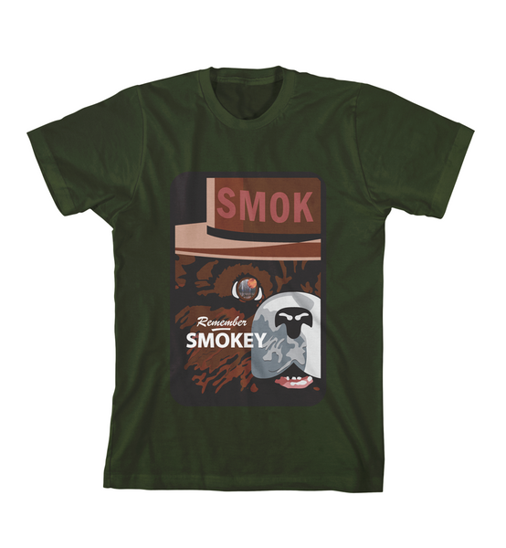 REMEMBER SMOKEY TEE - Forest Green