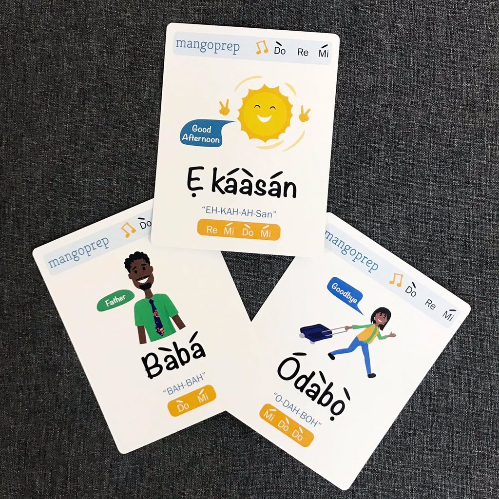 Learn Yoruba with these Flashcards
