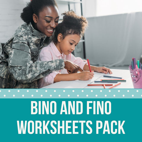 Bino and Fino Educational Worksheet Bundle