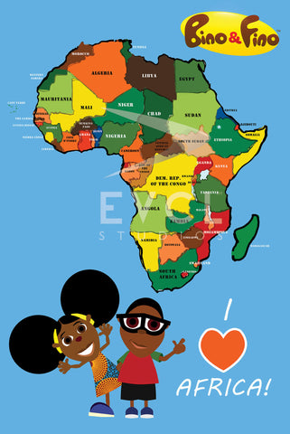 Bino and Fino I Love Africa Poster