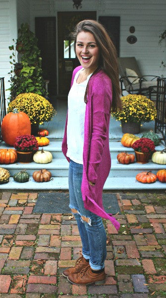 Color Me Magenta Open Cardi