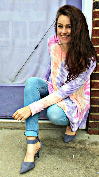 Happy Tie Dye Knit Top