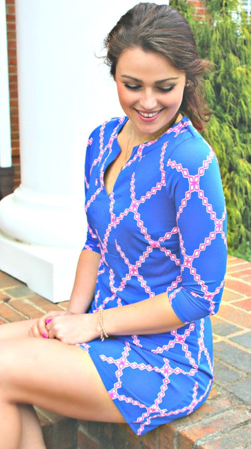 Royal Blue & Pink Dress