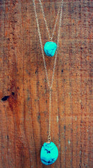 Double Stack Turquoise Necklace
