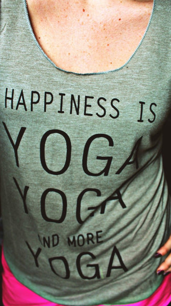 Happiness is Yoga Tank