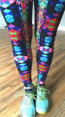Ikat Mixed Workout Leggings