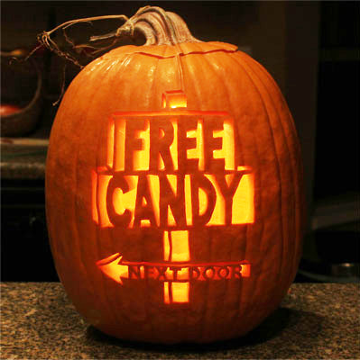 Free Candy Next Door Pumpkin