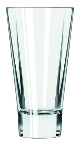 Libbey 15825 14 Oz Quadra V Tall Highball Beverage Glass