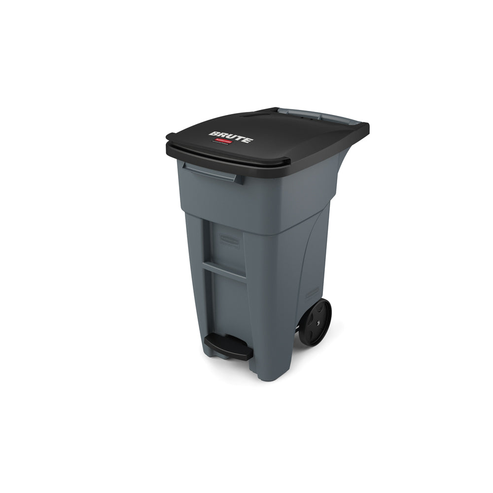 Rubbermaid 1971944 32 Gallon Gray Step-On Rollout Container   ShopAtDean