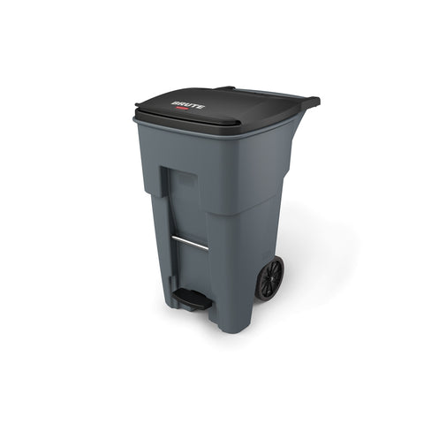 Rubbermaid 1971968 65 Gallon Gray Step-On Rollout Container