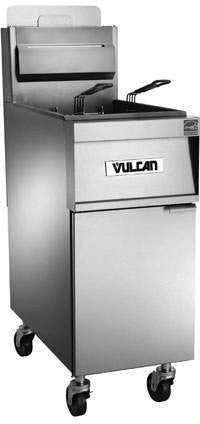Vulcan 1TR45A Powerfry 45 lb Analog Gas Fryer