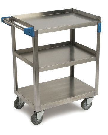 Carlisle UC3031524 3 Shelf Stainless Steel Utility Cart
