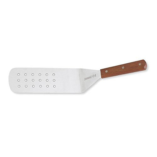 Mundial 4681M 8 X 3 Wood Handle Perforated Spatula
