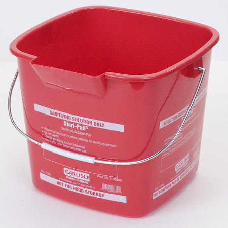 Carlisle 1182905 6 Quart Red Steri-Pail