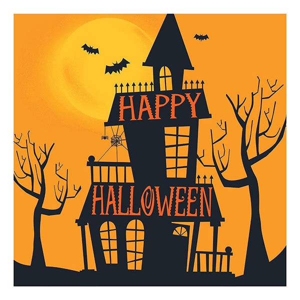 Creative Converting 316975 Haunted Halloween 10X10 Beverage Napkins