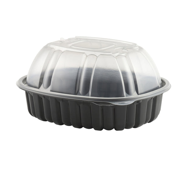 Anchor Packaging 4110600 Nature's Best Roaster Large Base Container with High Lid