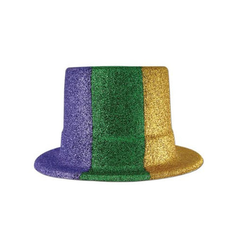 Beistle 60803-GGP Glittered Mardi Gras Top Hat