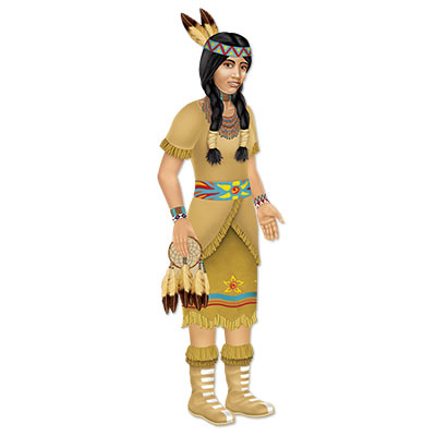 Beistle 54157 Jointed Native American Princess 38