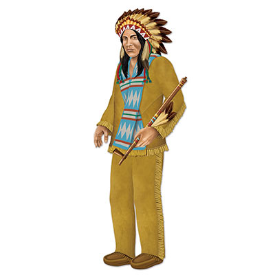 Beistle 54158 Jointed Indian Chief 37.5