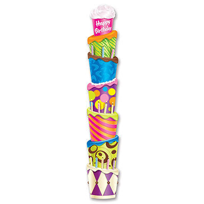 Beistle 54523 Happy Birthday Cake 6' Jointed Pull Down