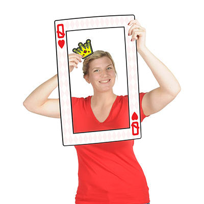 Beistle 54815 Queen Hearts Photo Fun Frame Prop