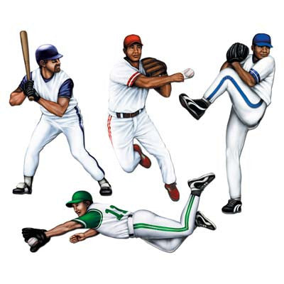 Beistle 55091 Baseball Cutouts 19