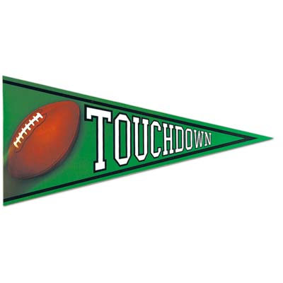 Beistle 55509 Football Pennant Cutout 24-1/4 Inches