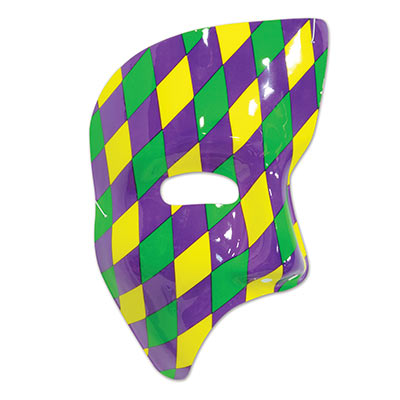 Beistle 60820-GGP Mardi Gras Phantom Mask