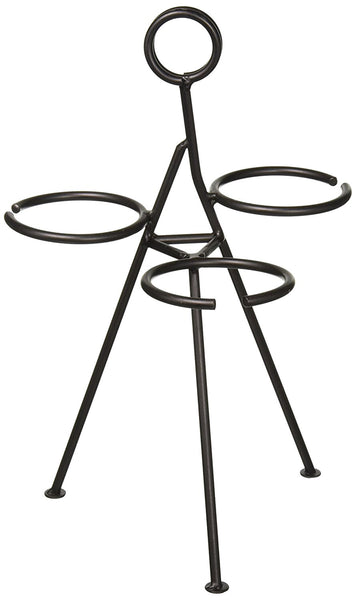 American Metalcraft CSD3 Black Wrought Iron 3-Cone Stand
