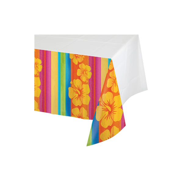 Creative Converting 722314 Sunset Stripes 54X102 Plastic Tablecovers