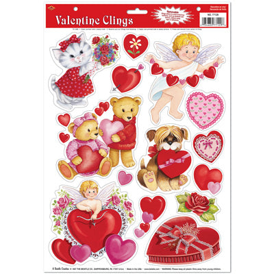 Beistle 77129 Valentine Window Clings