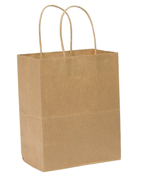 Duro 87523 Kraft  Jr Mart Handled Shopper Bag 250 Count