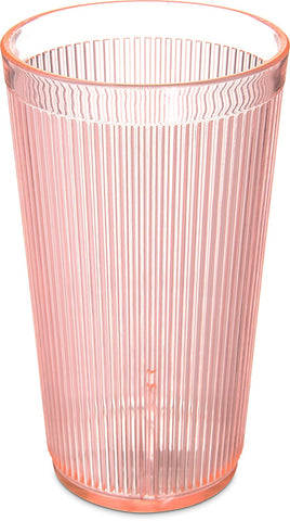Carlisle 403352 Crystalon RimGlow Sun Orange Tumbler 20 oz
