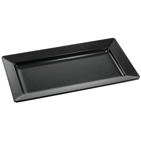 Tablecraft BKM2213 Black Rectangle Tray 22