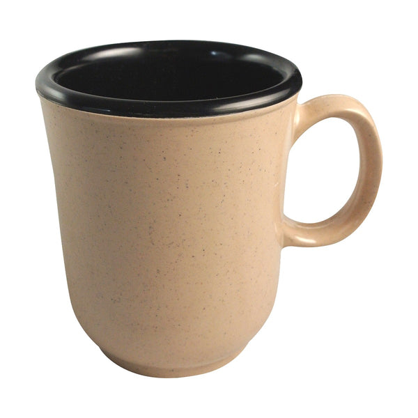 Prolon 9520-BK Sandstone and Black Bulbous Mug 8 oz