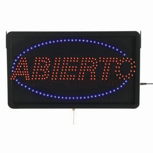 Aarco ABI08L Large Spanish LED Sign Abierto (Open)