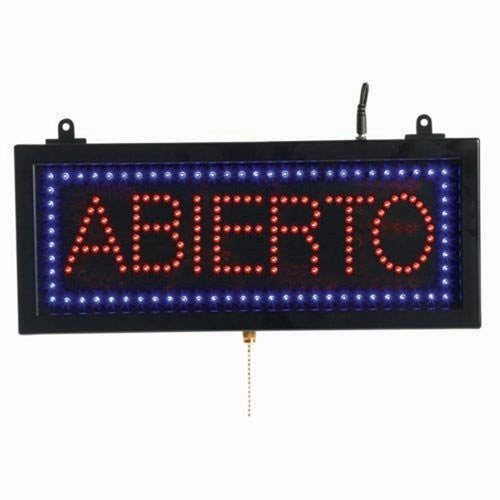 Aarco AB108S Small Spanish LED Sign Abierto (Open)