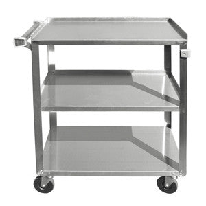 Update BC-2415SS 3 Shelf Stainless Steel Bus Cart